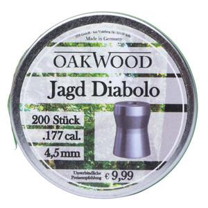 Jagd-Diabolo 4,5 mm 200 Stück Cal.177 Luftgewehr-Munition