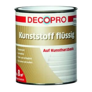 DecoPro Kunststoff flüssig 750 ml kieselgrau
