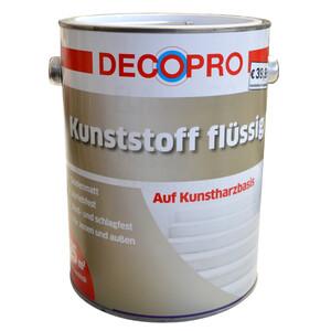 DecoPro Kunststoff flüssig 2,5 Liter kieselgrau