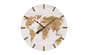 hardi - Wanduhr Global in weiß, 74 cm