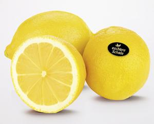 Zitrone mit essbarer Schale