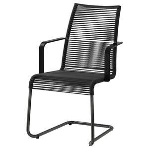 VÄSMAN                                Armlehnstuhl/außen, schwarz