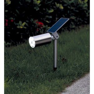 toom LED-Solar-Bodenstrahler 31 cm edelstahl
