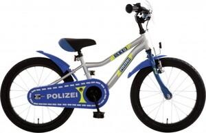 Bachtenkirch Kinderfahrrad 18 Zoll blau silber neon, Polizei