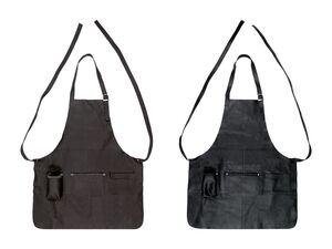 MERADISO® Ledergrillschürze, mit praktischen Taschen, aus Leder