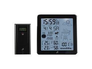 AURIOL® Funk-Wetterstation, mit Außensensor, Temperatur- und Luftfeuchtigkeitsanzeige