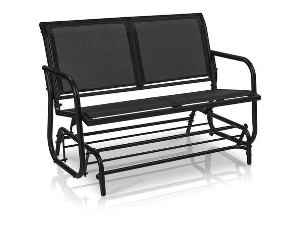 FLORABEST Schaukelbank, 2-Sitzer, 220 kg Belastbarkeit, mit Textilbespannung, aus Aluminium