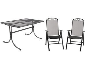 FLORABEST Gartenmöbel Set, Streckmetall, 5-teilig