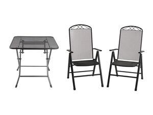 FLORABEST Balkonmöbel Set, Streckmetall, 3-teilig