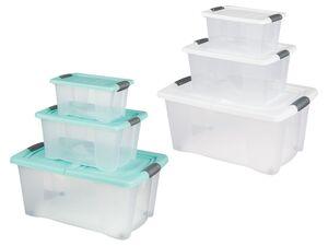 CASSETTI® Boxenset, 3-teilig, mit Deckel und Verschlussgriffen