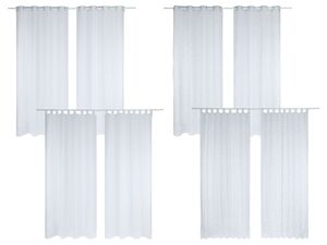 MERADISO® Gardinen, 2-teilig.  140 x 260 cm, transparent, mit Ösen oder Schlaufen