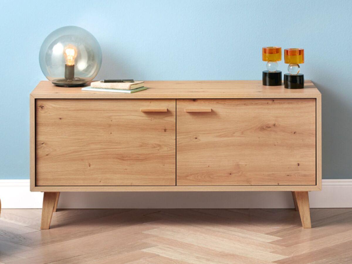 Bild 5 von LIVARNO LIVING® Lowboard, mit 2 Türen, höhenverstellbare Einlegeböden, im Retro-Design