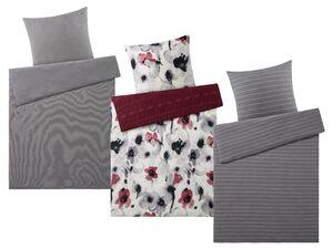 MERADISO® Bettwäsche, 155 x 220 cm, mit Reißverschluss, aus reiner Bio-Baumwolle
