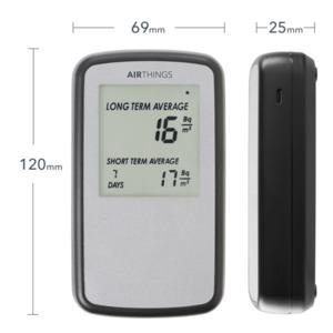 Airthings Home Digital Radon Detector / Messgerät mit Display und Luftqualitätsmonitor