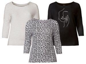 ESMARA® Shirt Damen, optimale Passform, modische 3/4-Ärmellänge