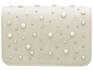 "JETTE ""Pearls Everywhere"" - Minibag, silber"