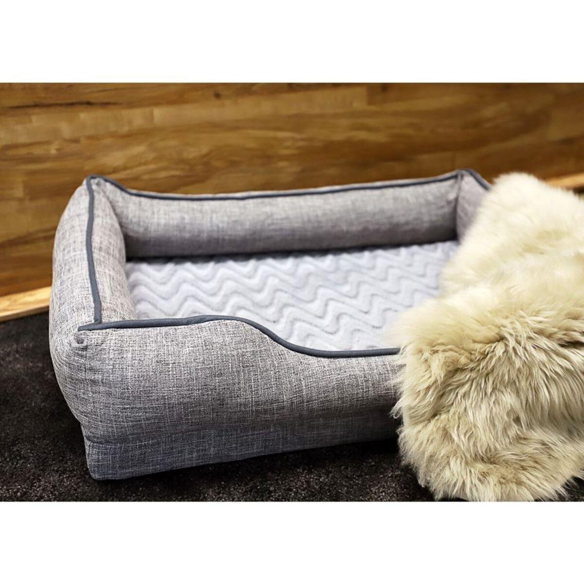 Bild 1 von Gepolstertes Hundebett Gr. M 80x59x18cm Grau