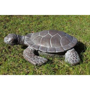 Dekofigur Schildkröte Graubraun