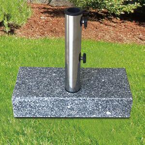 Granit-Sonnenschirmständer 25kg Grau