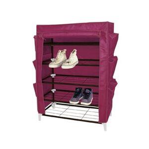 Stoff-Schuhschrank purple