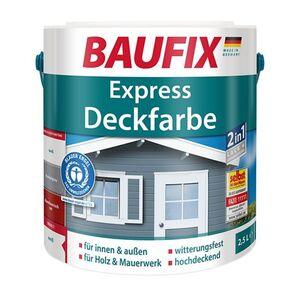 Baufix Express Deckfarbe 2,5 L, verschiedene Farben - weiß