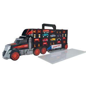 Dickie Toys Truck mit Tragegriff inkl. 8 Fahrzeugen
