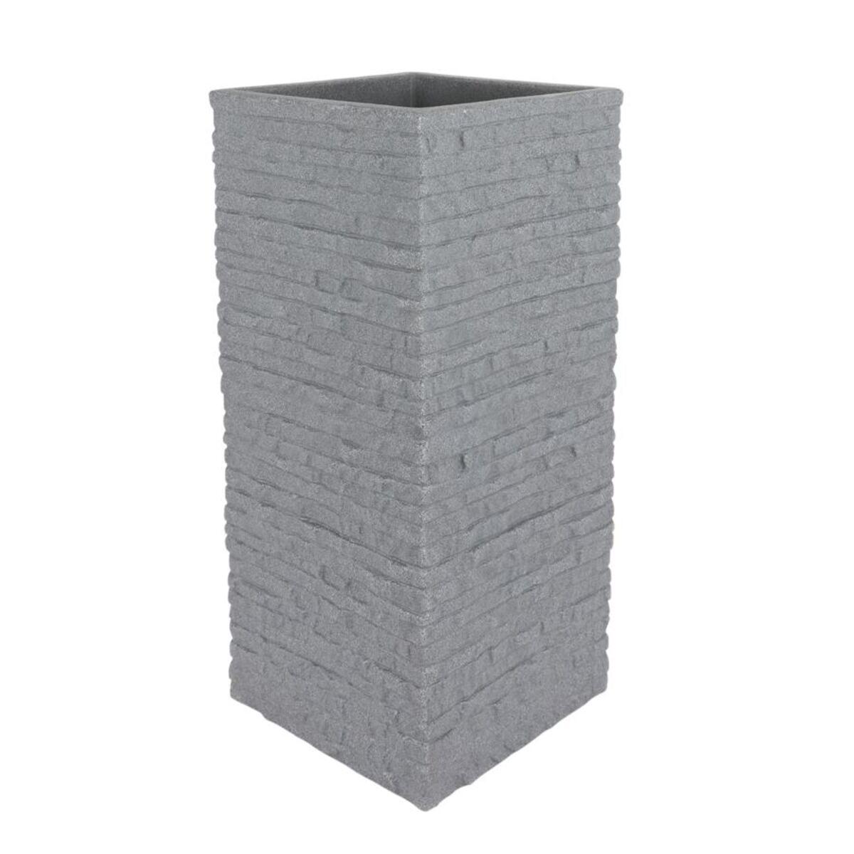 Bild 1 von Kubus Ziegel-Säulentopf 26x26x60cm Grau