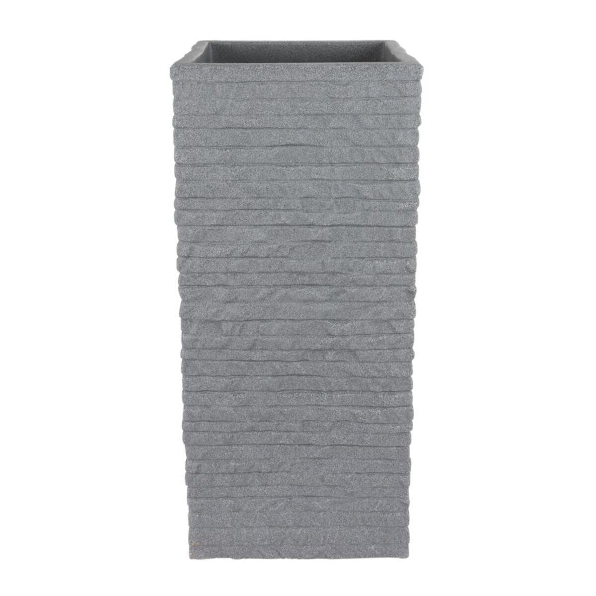 Bild 2 von Kubus Ziegel-Säulentopf 26x26x60cm Grau
