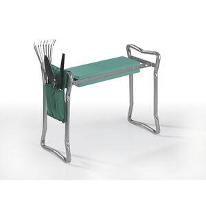 EASYmaxx Garten-Knie-& Sitzbank faltbar 2in1 grau/grün inkl. Werkzeugtasche