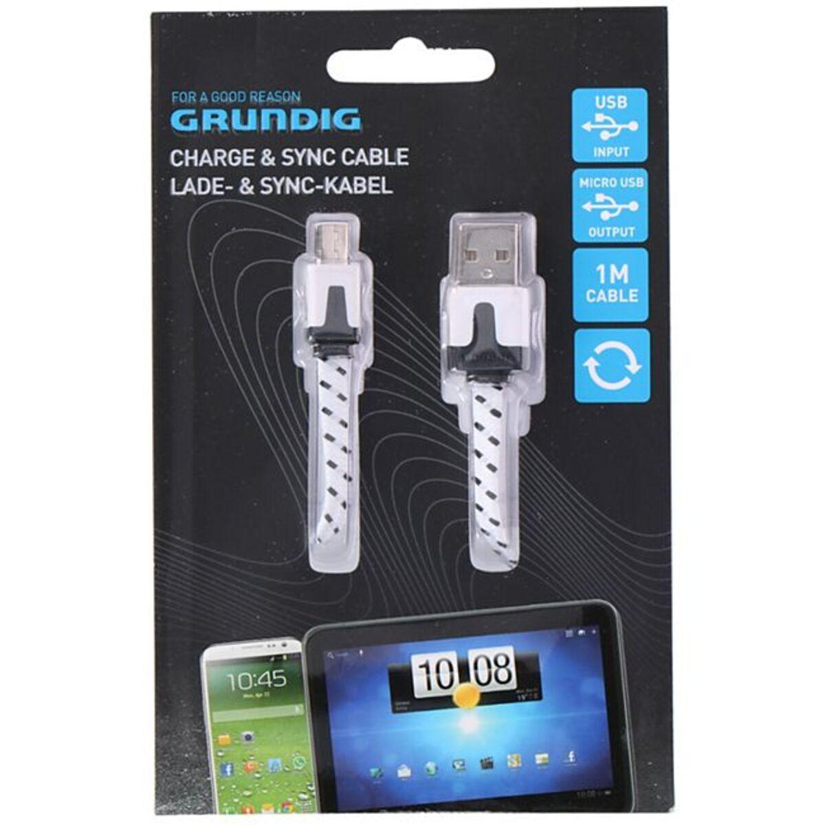 Bild 1 von Grundig Lade - und Sync-Kabel, Micro USB