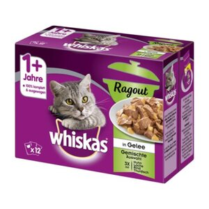 Whiskas Adult 1+ Ragout 12x85g Gemischte Auswahl