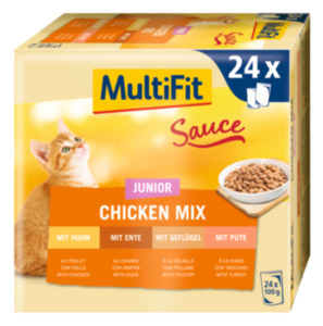 MultiFit Junior Sauce Chicken Mix Multipack 24x100g