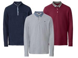 LIVERGY® Poloshirt Herren, Slim Fit, in Pikee-Qualität, mit kleinen Seitenschlitzen