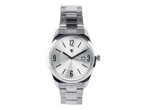 AURIOL® Armbanduhr Herren, mit Quarz-Uhrwerk, Gehäuse aus Metall, wasserdicht bis 5 bar