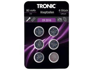 TRONIC® Knopfzellen, 6 Stück