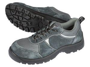 PARKSIDE® Sicherheitsschuh Herren, mit Zehenkappe aus Stahl, mit Leder