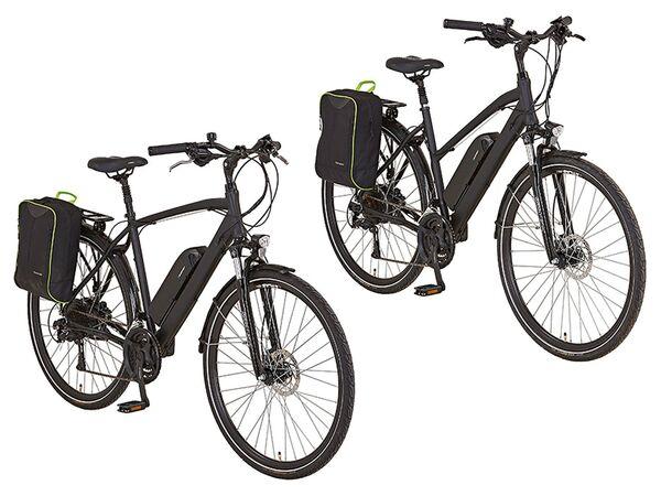 Prophete E-Bike Alu-Trekking, 28 Zoll, 100 km Reichweite, Damen, Herren, Seitenpacktasche