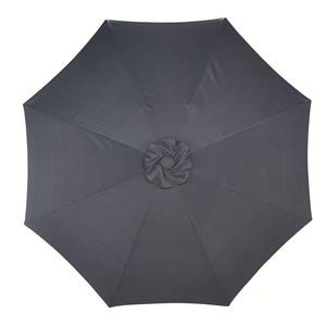 Alu-Sonnenschirm (ø 300 cm, grau)