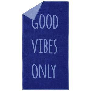 Strandtuch Good Vibes in Blau