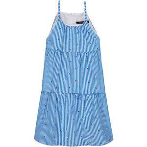 Marc O'Polo Trägerkleid, Allover-Muster-Print, gestreift, Spaghettiträger, für Mädchen