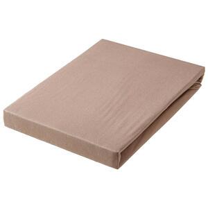SPANNBETTTUCH Jersey Taupe bügelleicht, für Wasserbetten geeignet