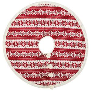 CHRISTBAUMDECKE 100 cm Rot, Weiß
