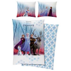 Disney Bettwäsche Frozen II Biber Weiß, Hellblau
