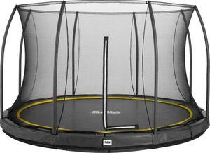 Salta - Rundes Bodentrampolin mit Netz - Comfort Edition Ground - Durchmesser: 427 cm - in schwarz