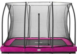 Salta -  Rechteckiges Bodentrampolin mit Netz - Comfort Edition Ground - 214x305 cm - in pink