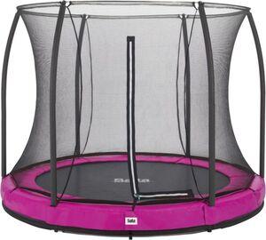 Salta - Rundes Bodentrampolin mit Netz - Comfort Edition Ground - Durchmesser: 305 cm - in pink