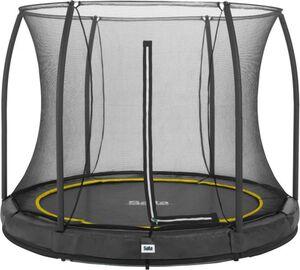Salta - Rundes Bodentrampolin mit Netz - Comfort Edition Ground - Durchmesser: 305 cm - in schwarz
