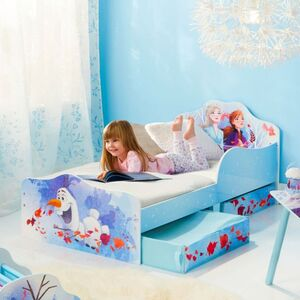 Die Eiskönigin 2 - Kinderbett de Luxe mit Stauraum - weiß/hellblau - ca. 70 x 140 cm