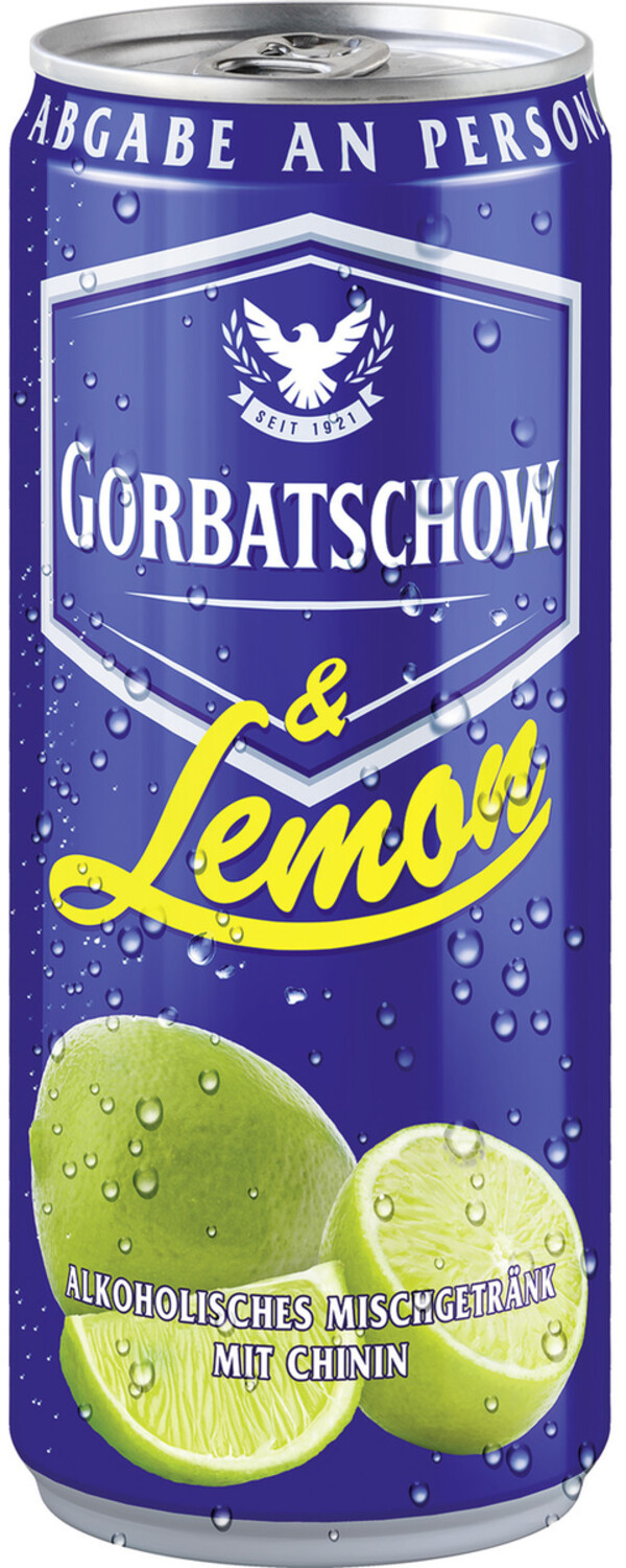 Gorbatschow Wodka & Lemon 0,33 ltr
