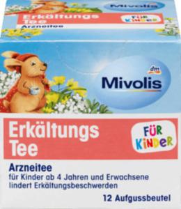 Mivolis Arznei-Tee, Erkältungstee für Kinder